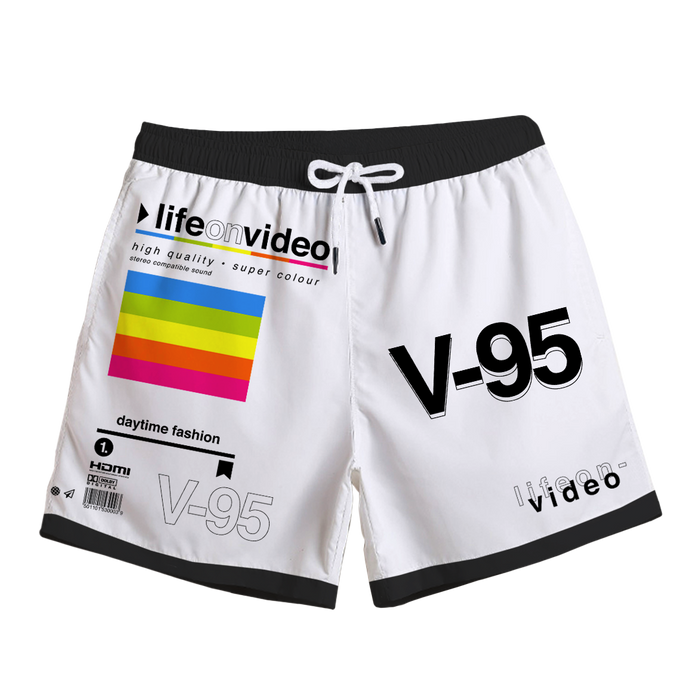 Life On Video Swim Trunks