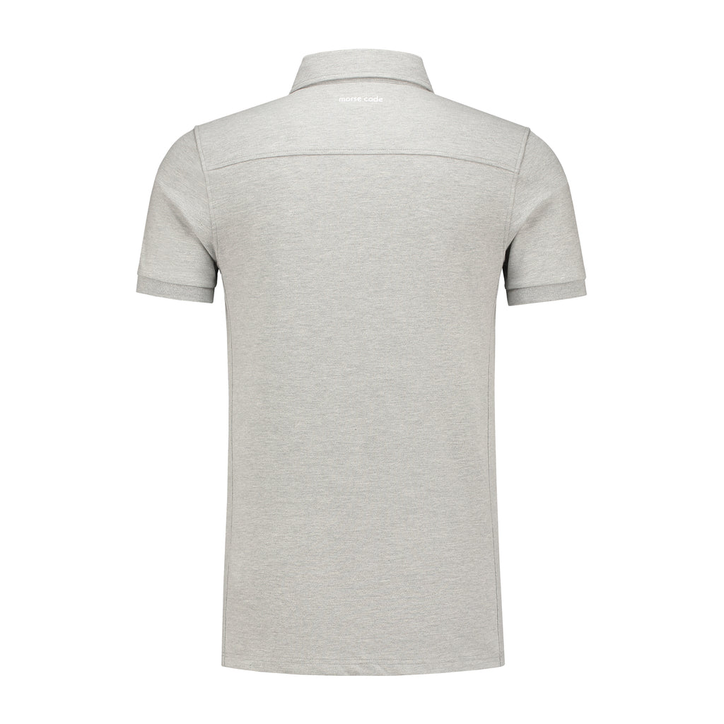 ALPHA - PIQUE STRETCH - LIGHT GREY MALEE