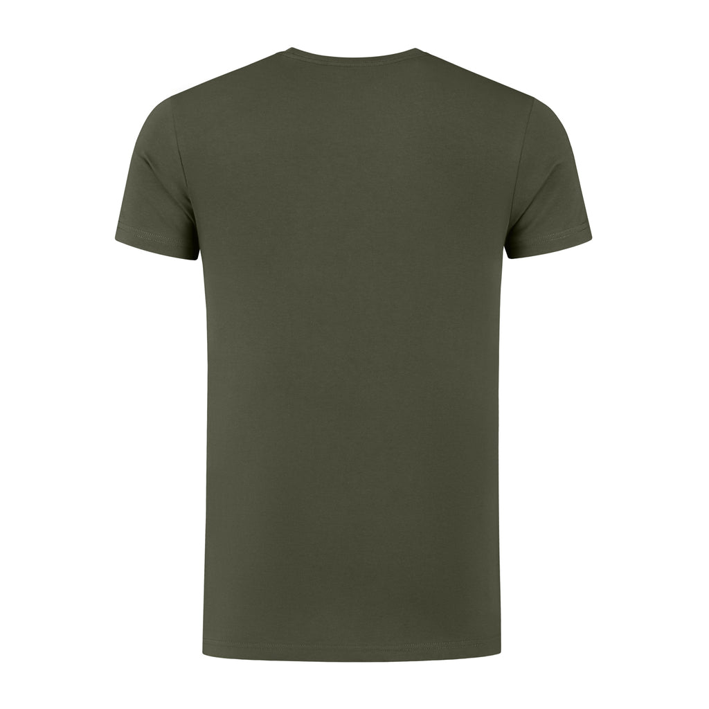 ECHO1 - ROUND NECK TEE - MILITARY OLIVE - NEW