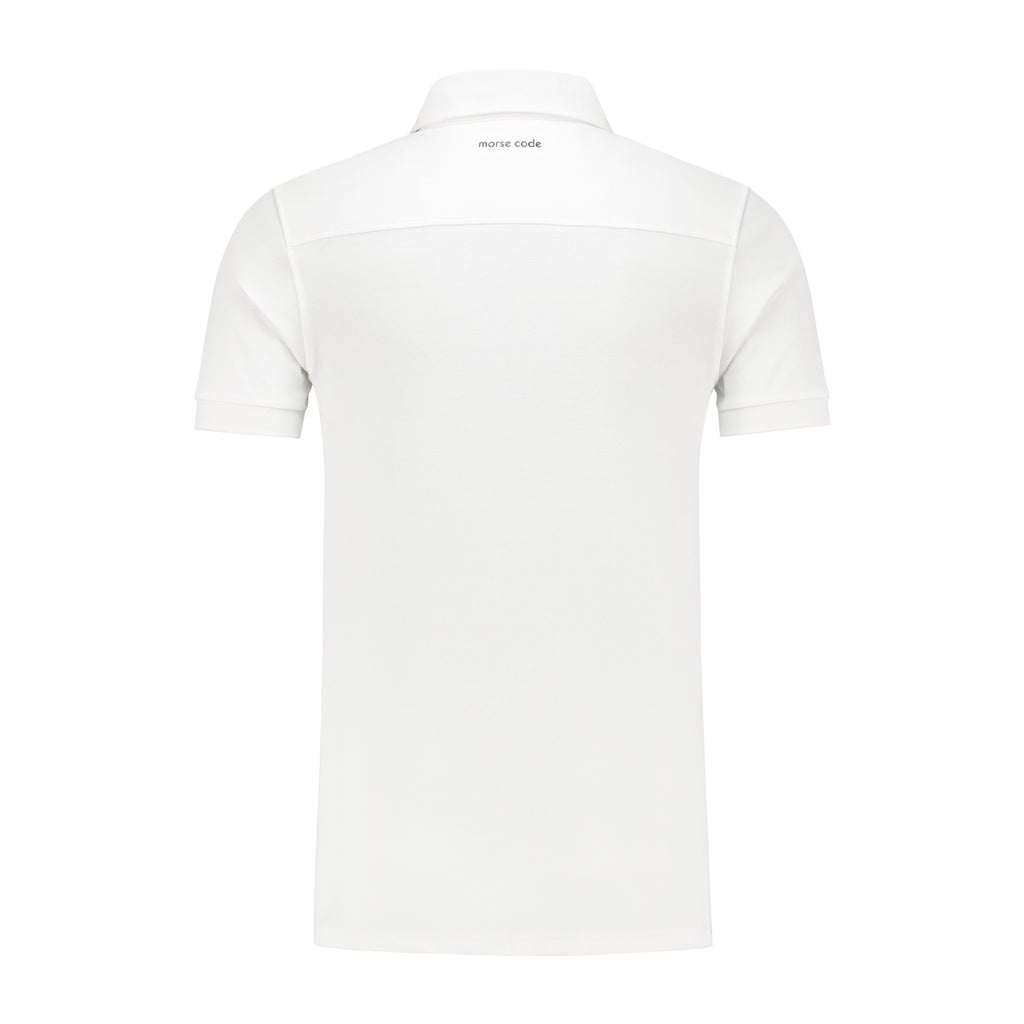 ALPHA1 - PIQUE STRETCH - WHITE