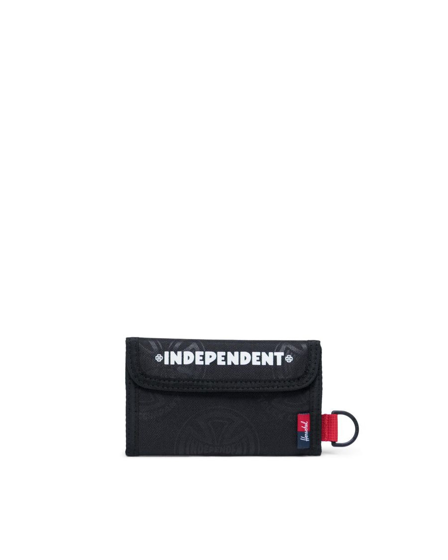 HERSCHEL INDEPENDENT FAIRWAY WALLET MUTICROSS BLACK - The Drive Skateshop