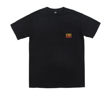 LOSER MACHINE SUNDOWN STOCK POCKET TEE BLACK - The Drive Skateshop