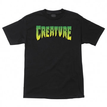 CREATURE T-SHIRT CREATURE LOGO BLACK - The Drive Skateshop