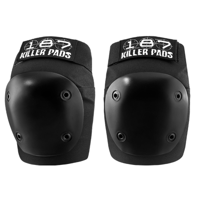 187 KILLER PADS FLY KNEE PADS BLACK - The Drive Skateshop
