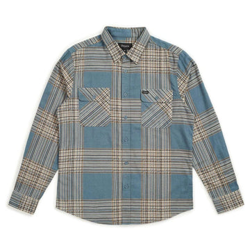 BOWERY LW L/S FLANNEL - ATLANTIC - The Drive