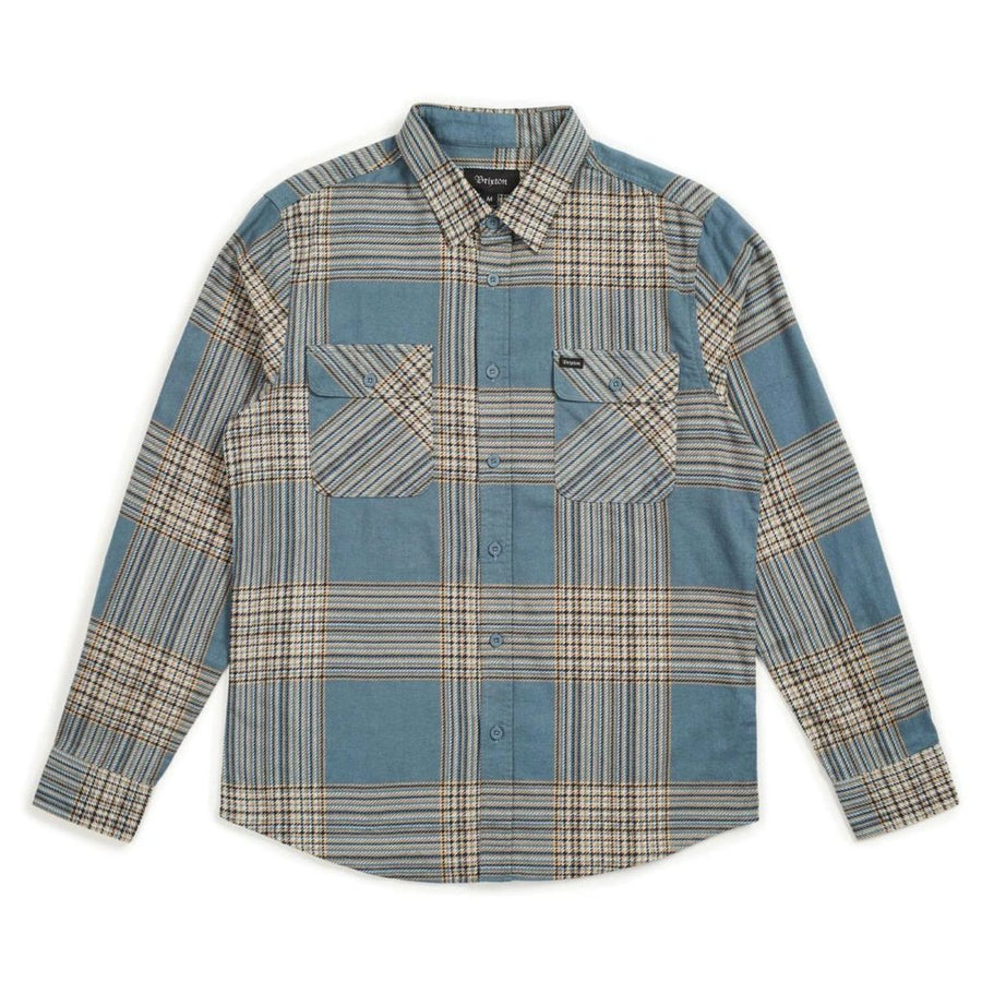 BOWERY LW L/S FLANNEL - ATLANTIC - The Drive Skateshop