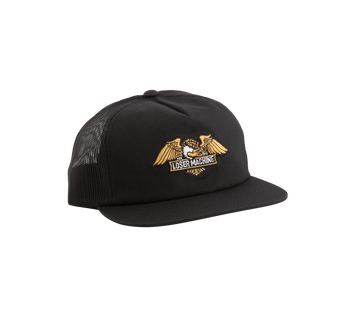 LOSER MACHINE WINGS TRUCKER HAT BLACK - The Drive Skateshop