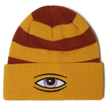 TOY MACHINE BEANIE - SECT EYE STRIPE DOCK BEANIE MUSTARD - The Drive Skateshop