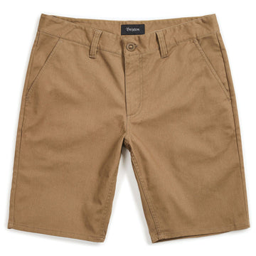 BRIXTON TOIL II HEMMED SHORT - DARK KHAKI - The Drive Skateshop