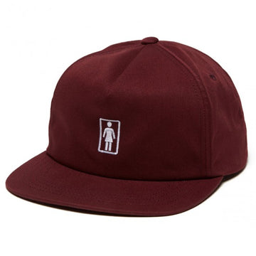GIRL OG 93 TIL SNAPBACK BURGUNDY - The Drive Skateshop