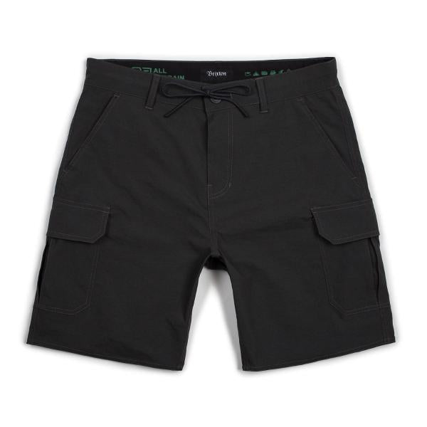 BRIXTON TRANSPORT 20 CARGO SHORT - BLACK - The Drive Skateshop