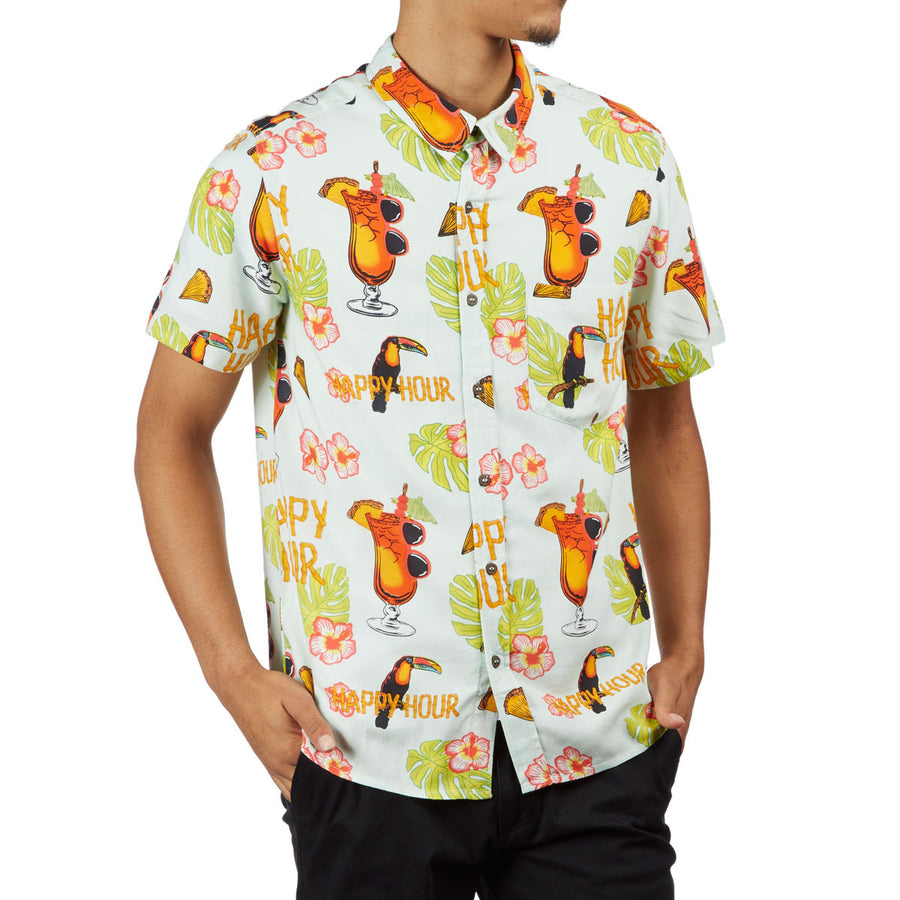 HAPPY HOUR S/S BUTTON UP SHIRT BLUE - TIKI ROOM - Seo Optimizer Test