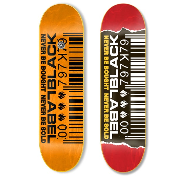 BLACK LABEL BARCODE RIPPED DECK (9