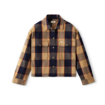 BRIXTON BOWERY W L/S FLANNEL - KHAKI - 100% ORGANIC COTTON - The Drive Skateshop