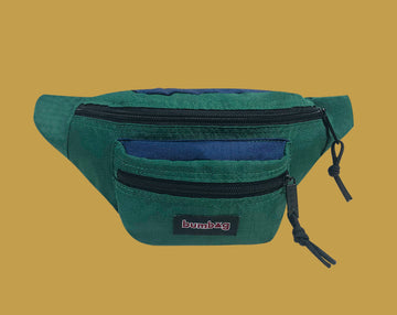 BUMBAG LOUIE LOPEZ HYBRID HIP PACK NAVY/FORREST GREEN - The Drive Skateshop