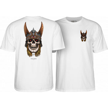 POWELL PERALTA S/S T-SHIRT - ANDERSON SKULL WHITE - The Drive Skateshop
