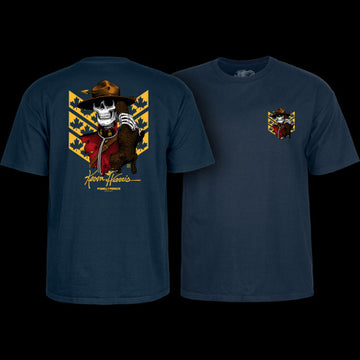 POWELL-PERALTA T-SHIRT KEVIN HARRIS MOUNTIE NAVY - The Drive Skateshop