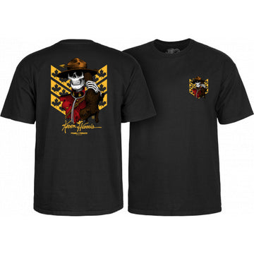 POWELL-PERALTA T-SHIRT KEVIN HARRIS MOUNTIE BLACK - The Drive Skateshop