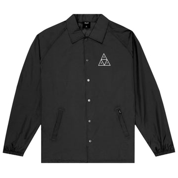 HUF ESSENTIALS COACHES JACKET BLACK - The Drive Skateshop