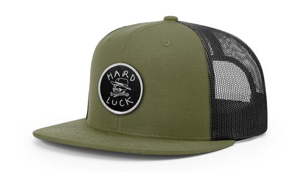 HARD LUCK HAT - OG LOGO TRUCKER OLIVE - The Drive Skateshop