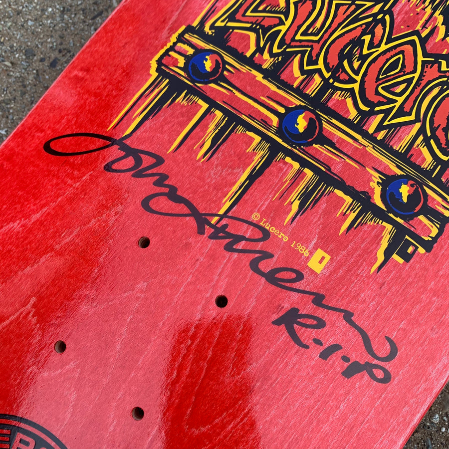 BLACK LABEL DECK - AUTOGRAPHED LUCERO M.I.A RED STAIN (9.25