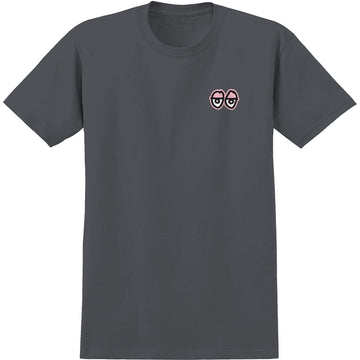 KROOKED STRAIT EYES SS TEE CHARCOAL/PINK
