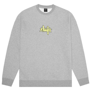 HUF LANDMARK LOGO CREWNECK GREY HEATHER - The Drive Skateshop