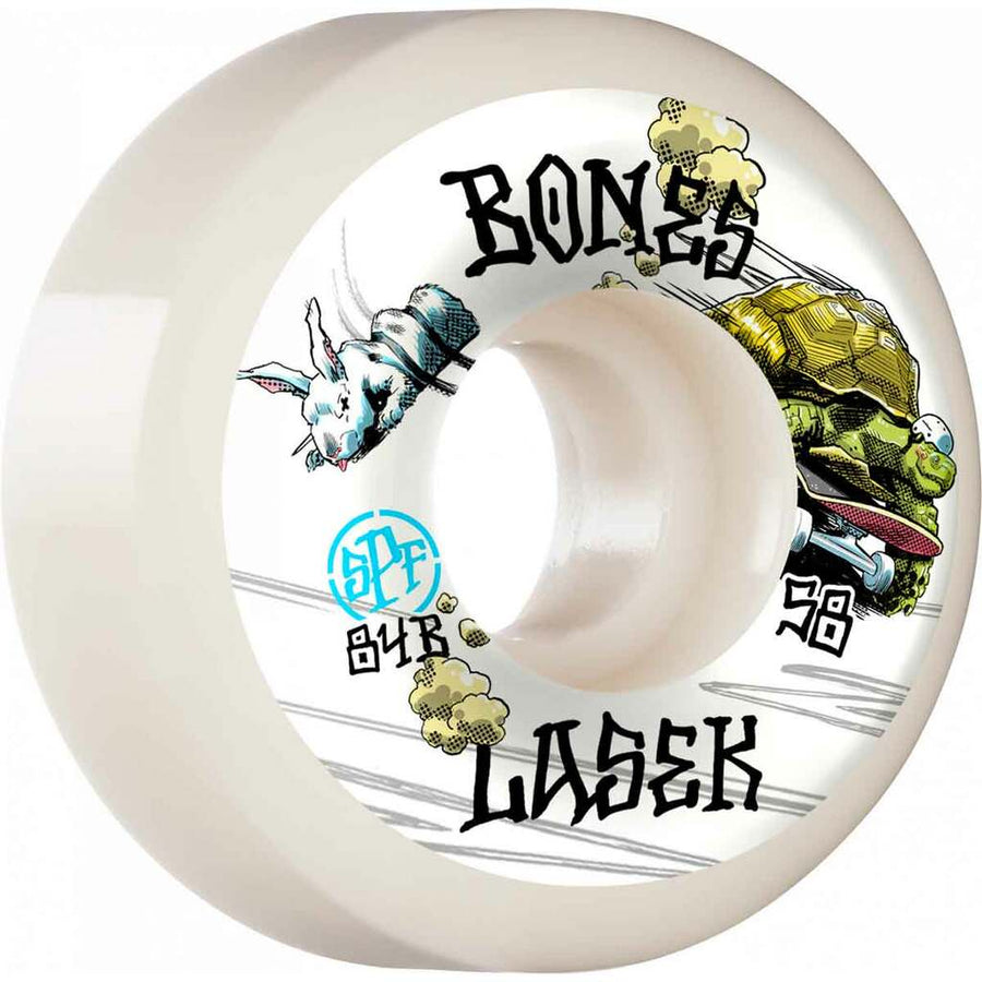 BONES SPF WHEEL - LASEK TORTOISE & HARE (58MM) - The Drive Skateshop