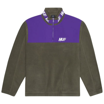 HUF MOUNTAIN 10K QUARTER ZIP DUSTY OLIVE