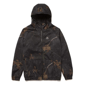 HUF NETWORK LIGHTWEIGHT JACKET REALTREE BLACK - The Drive Skateshop
