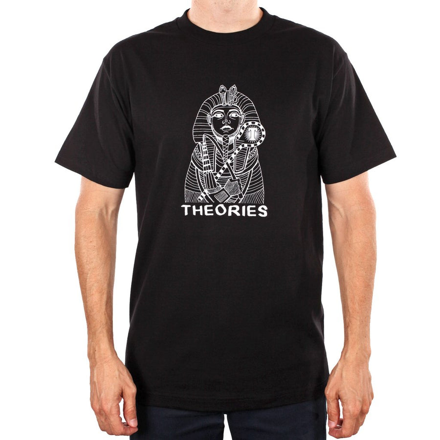 THEORIES S/S T-SHIRT - PHARAOH BLACK - The Drive Skateshop