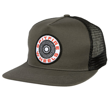 SPITIFIRE CLASSIC 87 SWIRL PATCH SNAPBACK CHARCOAL BLACK