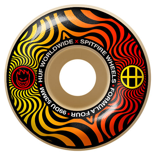 SF F4 99 X HUF SWIRL CLASSIC 53MM - The Drive Skateshop