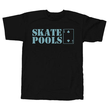 LOW CARD SKATE POOLS T-SHIRT BLACK