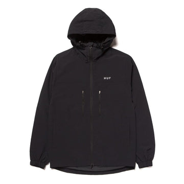 HUF STANDARD SHELL 3 JACKET BLACK - The Drive Skateshop
