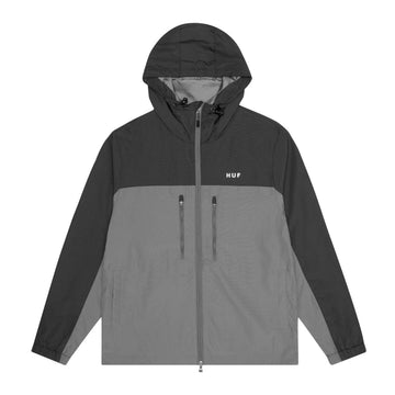 HUF STANDARD SHELL 3 JACKET BLACK/GREY - The Drive Skateshop