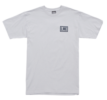 LOSER MACHINE HARDLINE STOCK TEE SILVER - The Drive Skateshop