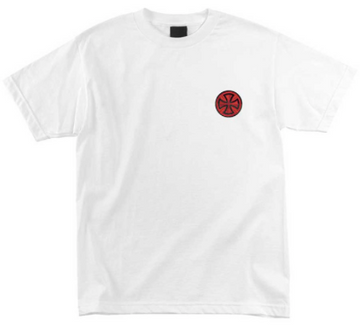 INDEPENDENT T-SHIRT TARGET WHITE - The Drive Skateshop