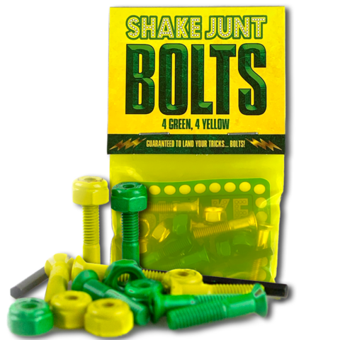 SHAKE JUNT GREEN AND YELLOW BOLTS 1