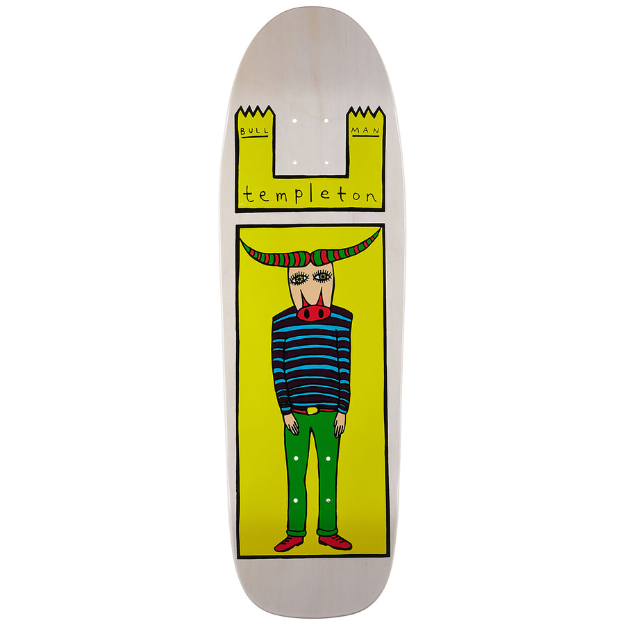 TOY MACHINE DECK - TEMPLETON BULL MAN (9.5