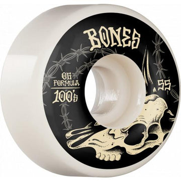 BONES 100'S WHEELS - DESERT SKULL V4 WIDES 100A (55MM)