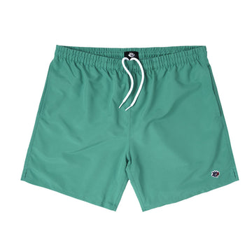 MAGENTA NYLON SHORTS GREEN - The Drive Skateshop