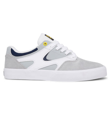 DC SHOES KALIS VULC WHITE/GREY - The Drive Skateshop