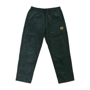 KROOKED EYES WAIST CORDUROY PANT DARK GREEN/YELLOW