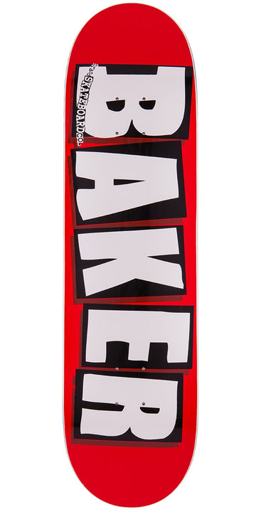 BAKER BRAND LOGO RED/WHITE (8.125