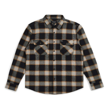 BRIXTON BOWERY L/S FLANNEL - BLACK/CREAM