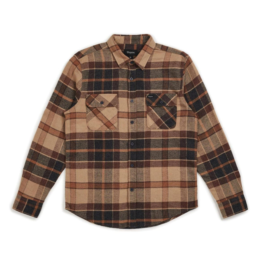 BOWERY L/S FLANNEL CREAM/COPPER - The Drive