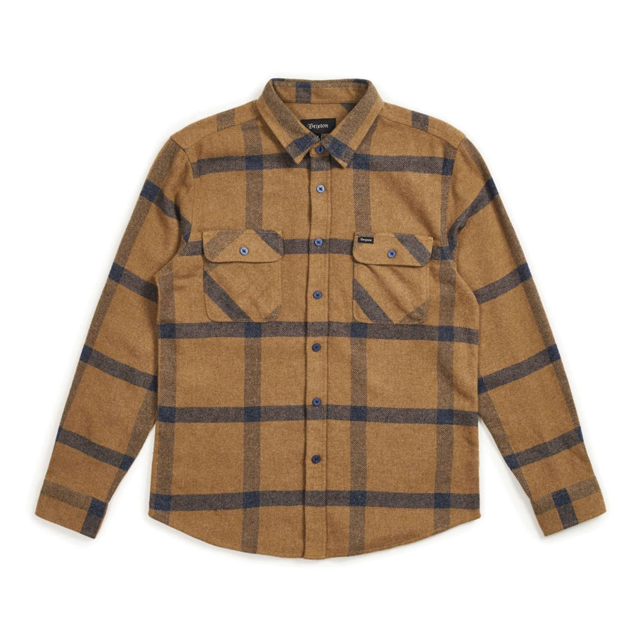 BOWERY L/S FLANNEL - GOLD/NAVY - Seo Optimizer Test