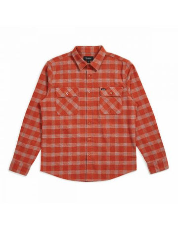 BOWERY L/S FLANNEL - HENNA - The Drive