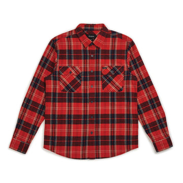 BOWERY L/S FLANNEL RED/NAVY - The Drive